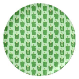 Pimientas verdes. Modelo Platos