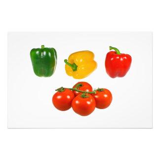 Pimientas y tomates fotografía