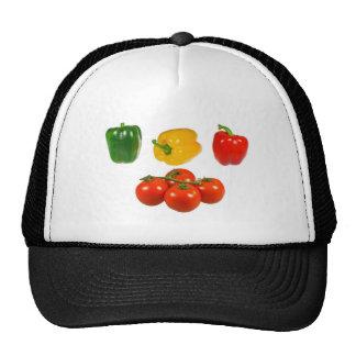 Pimientas y tomates gorro