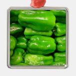 Pimiento verde fresco ornamento de navidad