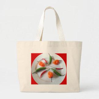 Pimientos picantes 2 bolsa tela grande