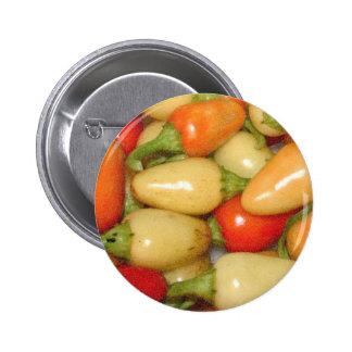 Pimientos picantes amarillo rojo y naranja pin