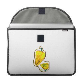 Pimientos picantes amarillos uno cortados por la m funda para macbook pro