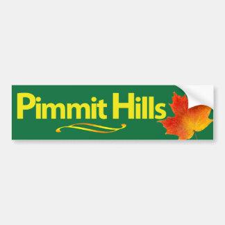 Pimmit Hills Bumper Sticker - Green Car Bumper Sticker