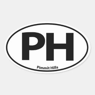 Pimmit Hills Oval Sticker