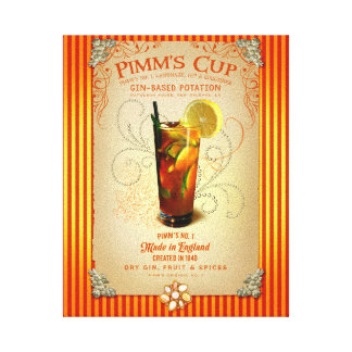 Pimm's Cup Cocktail Gallery Wrapped Canvas