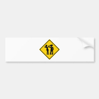 Pimp Backhand Road Sign Bumper Sticker