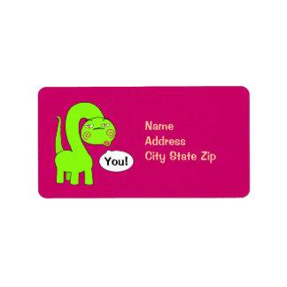 Pimp Dino Address Label