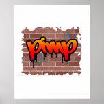 pimp graffiti  design poster