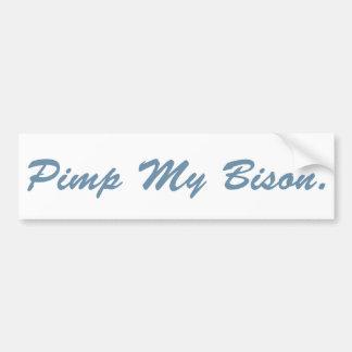 Pimp My Bison Bumper Sticker