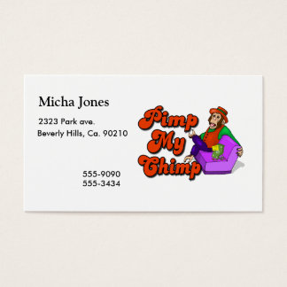 Pimp My Chimp Business Card