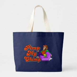 Pimp My Chimp Large Tote Bag