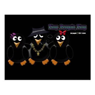 Pimp Penguin Pimp Postcard