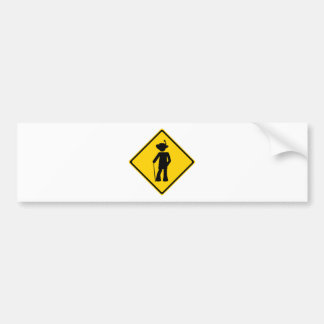 Pimp Road Sign Bumper Sticker