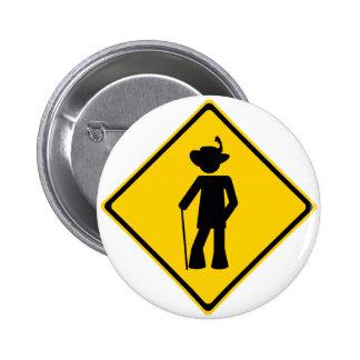 Pimp Road Sign Pinback Button