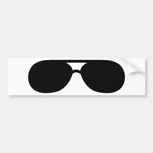 pimp sunglasses shades car bumper sticker