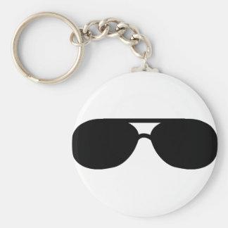 pimp sunglasses shades basic round button keychain