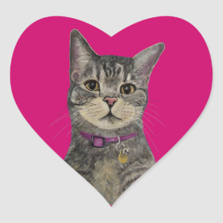 Pimp the Cat Heart Sticker