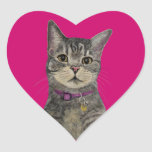 Pimp the Cat Heart Stickers