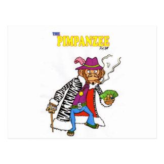 Pimpanzee grande tarjeta postal