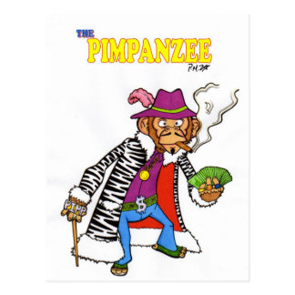 Pimpanzee large postcard