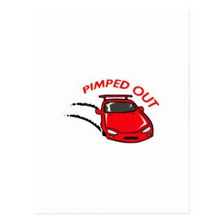 PIMPED OUT CAR POSTCARD