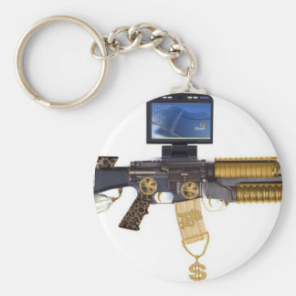 pimped out M-16 Keychain