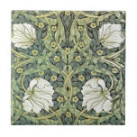 "Pimpernel by William Morris Ceramic Tile<br><div class=""desc"">A wallpaper pattern by William Morris (1834-1896),  Pimpernel (1876). White poppies with green leaves and yellow pimpernel flowers.</div>"