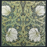 "Pimpernel by William Morris Cloth Napkin<br><div class=""desc"">A wallpaper pattern by the British artist William Morris (1834-1896),  Pimpernel (1876). White poppies with green leaves and yellow pimpernel flowers.</div>"