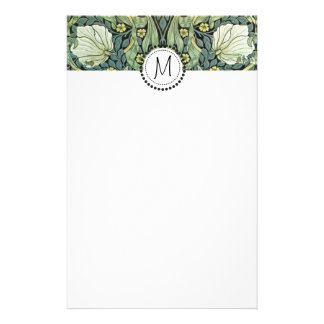 Pimpernel by William Morris Monogrammed Stationery