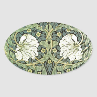 Pimpernel by William Morris Oval Sticker