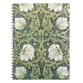 Pimpernel by William Morris Spiral Notebooks