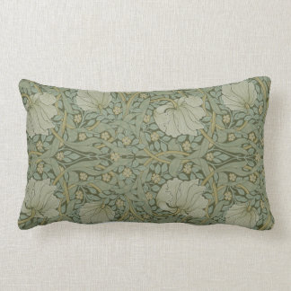 Pimpernel by William Morris Vintage Floral Textile Lumbar Pillow
