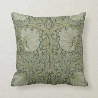 Pimpernel by William Morris Vintage Floral Textile Throw Pillow