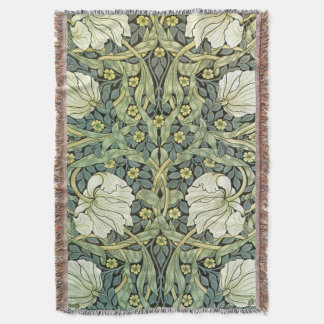 Pimpernel by William Morris Throw Blanket
