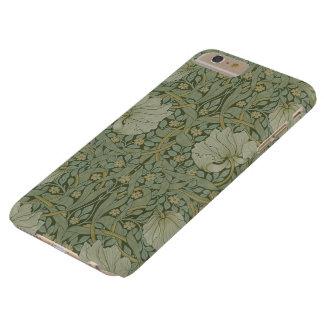 Pimpernel de William Morris, flores del vintage Funda De iPhone 6 Plus Barely There