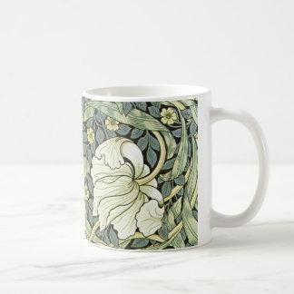 Pimpernel de William Morris Taza Básica Blanca