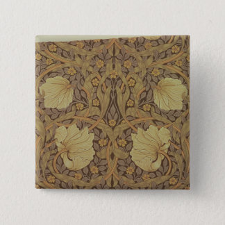 'Pimpernel' wallpaper design, 1876 Pinback Button