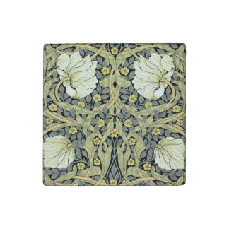 Pimpernel Yellow Green Floral Pattern Vintage Stone Magnet