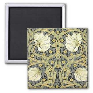 Pimpernel Yellow Green Floral Pattern Vintage 2 Inch Square Magnet