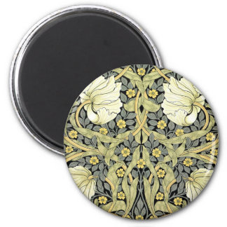 Pimpernel Yellow Green Floral Pattern Vintage 2 Inch Round Magnet