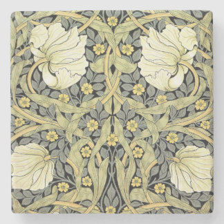 Pimpernel Yellow Green Floral Pattern Vintage Stone Coaster