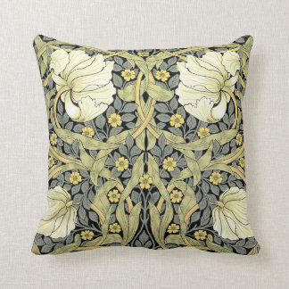 Pimpernel Yellow Green Floral Pattern Vintage Throw Pillow