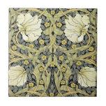 Pimpernel Yellow Green Floral Pattern Vintage Ceramic Tiles