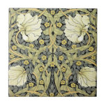 """Pimpernel Yellow Green Floral Pattern Vintage Tile<br><div class=""""desc"""">Pimpernel Yellow Green Floral Pattern Vintage The Pimpernel pattern is by 19th Century British textile and wallpaper designer William Morris. Pimpernel shows a beautiful yellow white flower, on a background of swirling green leaves, smaller gray leaves, and tiny yellow flowers. The color scheme is chic and modern, yet it is...</div>"""