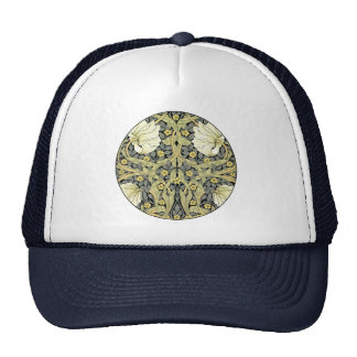 Pimpernel Yellow Green Floral Pattern Vintage Wall Hats