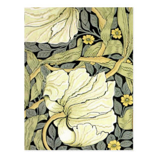 Pimpernel Yellow Green Floral Pattern Vintage Wall Postcard