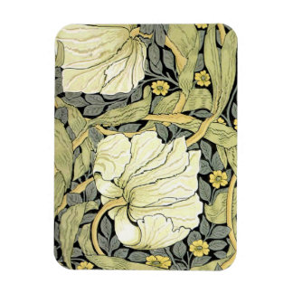 Pimpernel Yellow Green Floral Pattern Vintage Wall Rectangular Photo Magnet