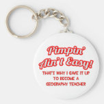 Pimpin' Ain't Easy .. Geography Teacher Key Chains