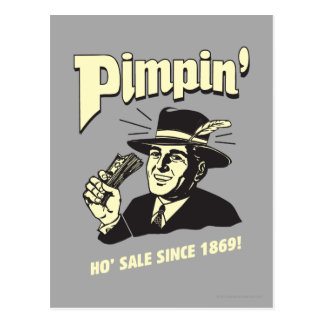 Pimpin': Ho Sale Postcard